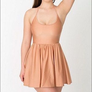 American Apparel Nude Skater Dress